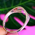 Женское серебряное кольцо с фианитами, фото 2