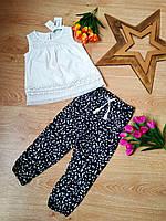 Детский летний костюм с белой маечкой для девочек 1-6 лет Cichlid Турция, фото 1