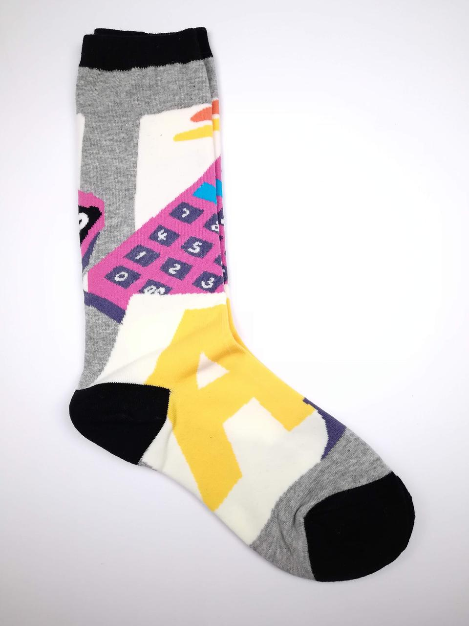 """Незвичайні шкарпетки з цікавим принтом """"Калькулятор"""""""