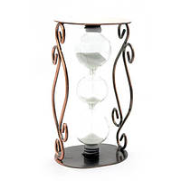 Часы песочные в металле (17х9,5х8,5 см)