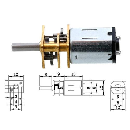 Мотор редуктор микро моторчик 12GAN20 1000 об/мин 12В