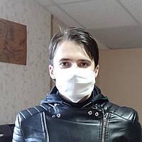Удобная белая маска защитная для лица! Противовирусная повязка из гигиенического тканого полокна!