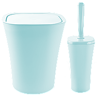 Набір для ванної кімнати Planet Papillon 2 предмета сіро-блакитний