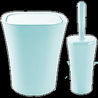 Набор для ванной комнаты Planet Papillon 2 предмета серо-голубой