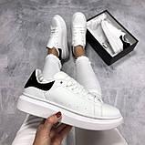 Женские кроссовки  в стиле Alexander McQueen Triple White Black, фото 6