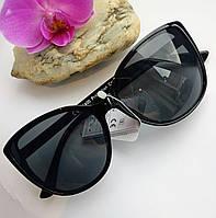 Стильные солнцезащитные женские очки бабочки черные (06887)