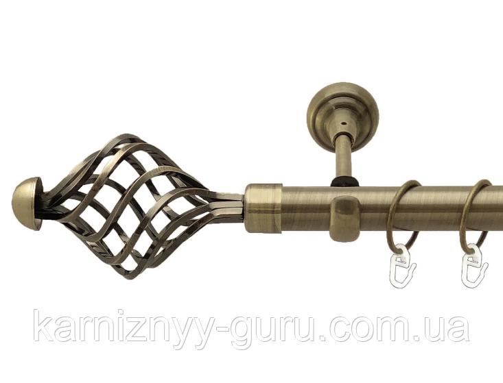 Карниз для штор ø 16 мм, одинарный, наконечник Арезо