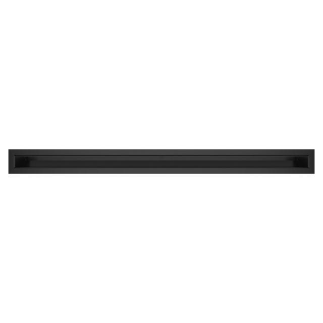 Вентиляционная решетка для камина SAVEN Loft 60х800 черная