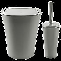 Набір для ванної кімнати Planet Papillon 2 предмета сірий