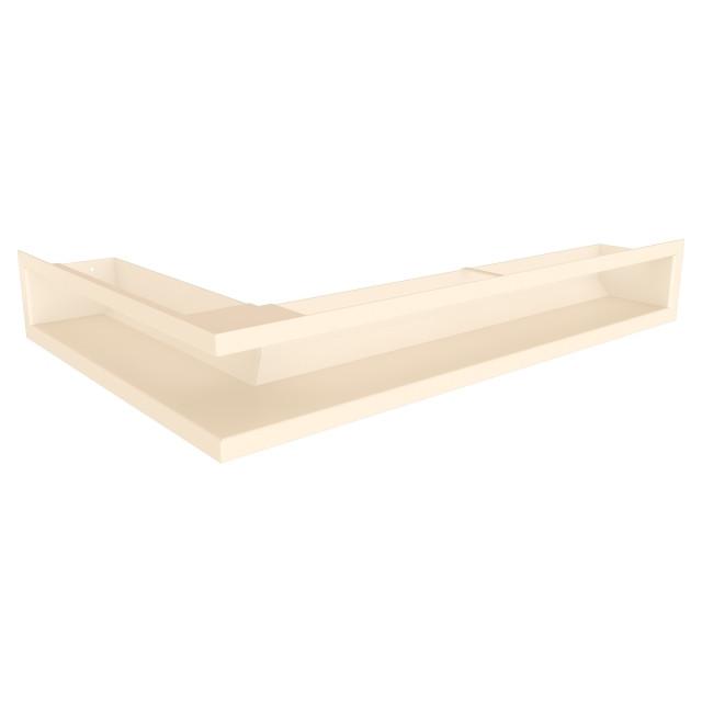 Вентиляційна решітка для каміна кутова права SAVEN Loft Angle 90х600х400 кремова