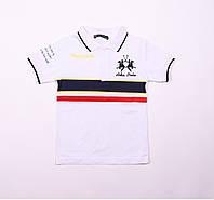 Детская футболка для мальчика,белая, возраст 6,7,8,9 лет
