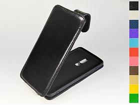 Откидной чехол из натуральной кожи для Meizu M8 Lite / V8