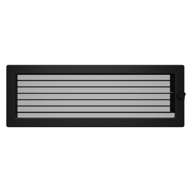 Вентиляционная решетка для камина SAVEN 17х49 черная с жалюзи