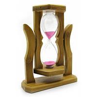 Часы песочные на подставке (14,5х11х4,5 см)