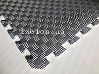Коврик-пазл (мягкий пол татами ласточкин хвост) IZOLON EVA SPORT 1000х1000х10мм, серый
