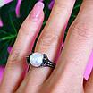 Серебряное кольцо с марказитами - Кольцо из капельного серебра с жемчугом, фото 7