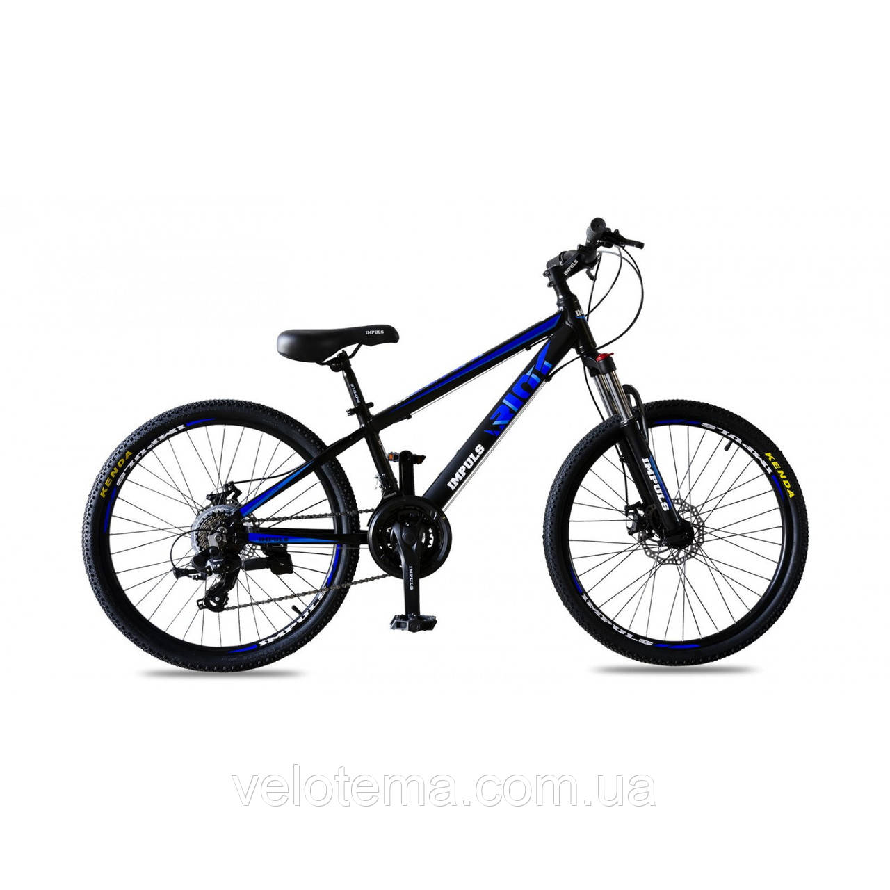 "Велосипед IMPULS RIO 24"" черно-синий Рама 12"" 2020г"