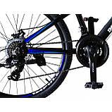 """Велосипед IMPULS RIO 24"""" черно-синий Рама 12"""" 2020г, фото 6"""