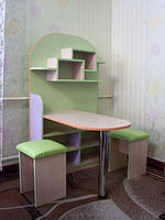 Набор мебели для детского сада (стол, полка навесная и табуретки)