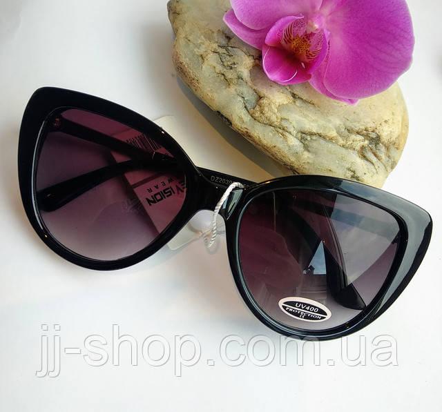 Солнцезащитные очки женские черного цвета Сat 3