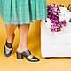 Шлепанцы кожаные на среднем каблуке 6 см, фото 3