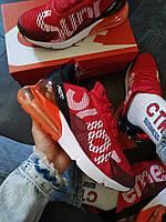 Кроссовки мужские Nike Air 270 Supreme красные