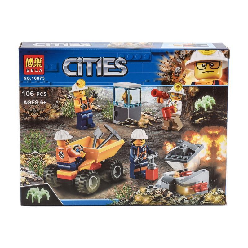 """Конструктор Bela Cities """"Команда горняков"""" 106 деталей"""