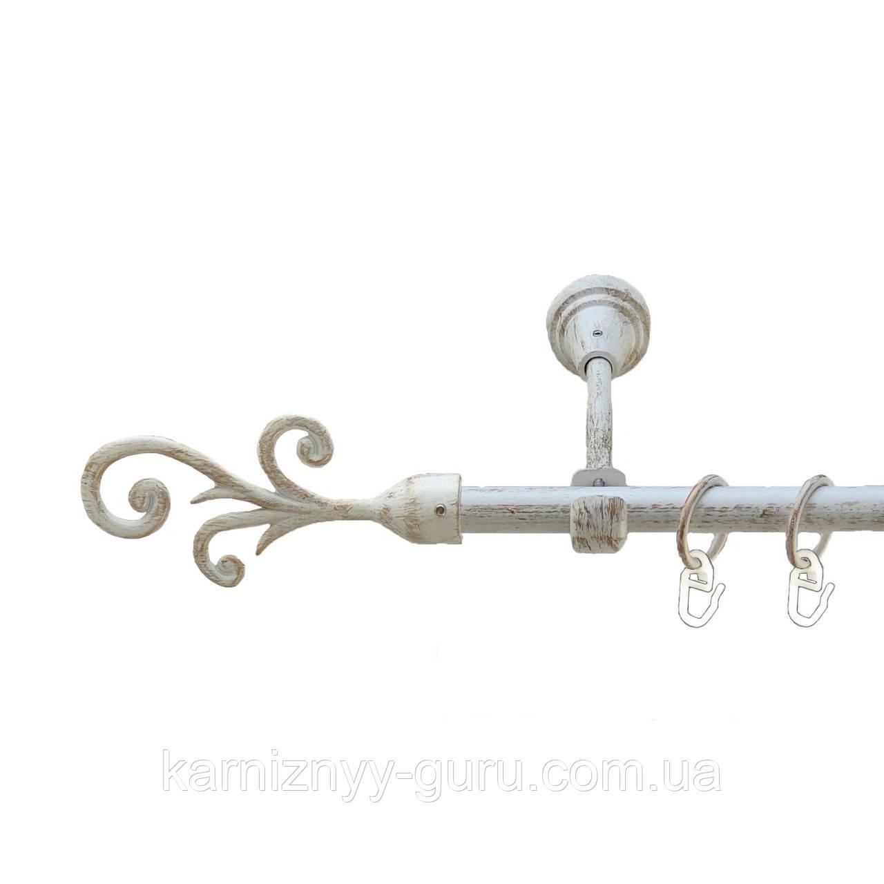 Карниз для штор ø 16 мм, одинарный, наконечник Фала