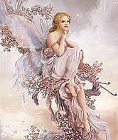 Алмазная мозаика Цветочная фея 50x60см DM-136 Полная зашивка. Набор алмазной вышивки