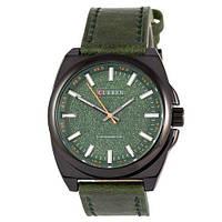 Часы мужские кварцевые водонепроницаемые Curren Classico 8168 Black-Green