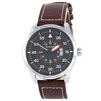 Классические часы мужские на ремешке водонепроницаемые Curren 8210-1 Silver-Brown Black