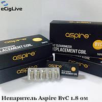 Испаритель Aspire BvC 1.8 ом Двух-спиральный Оригинал, фото 1