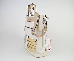 Сумка-рюкзак Velina Fabbiano 572177 Кремовий, фото 3