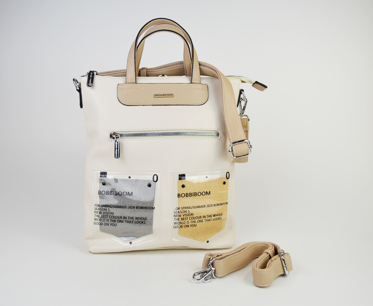 Сумка-рюкзак Velina Fabbiano 572177 Кремовий