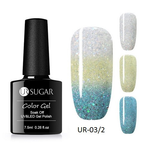 Термо гель-лак для ногтей маникюра термолак 7.5мл UR Sugar, UR-03/2