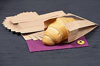 Бумажный крафт пакет с прозрачным окном 140*50*200