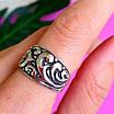 Серебряное кольцо без камней - Женское кольцо из серебра с узором, фото 8
