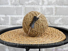 Пов'язка на голову дівчинці One Size з шкіряним бантиком, темно-коричнева
