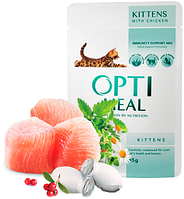 Влажный корм для котят Optimeal (Оптимил) с курицей 85 г.