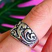 Серебряное кольцо без камней - Женское кольцо из серебра с узором, фото 7
