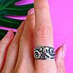 Серебряное кольцо без камней - Женское кольцо из серебра с узором, фото 5