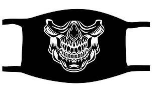 Защитная маска многоразовая с рисунком Череп с принтом ORIGINAL хлопок (Двухслойная)