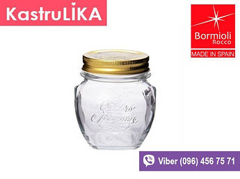 Скляні банки з металевою кришкою Bormioli Quattro 300мл