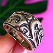 Серебряное кольцо без камней - Женское кольцо из серебра с узором, фото 4