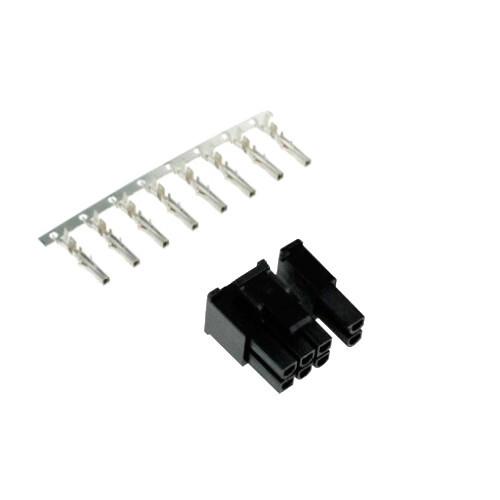 Разъем гнездо коннектор питания 6+2pin 8pin PCI-E + контакты