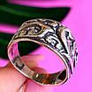 Серебряное кольцо без камней - Женское кольцо из серебра с узором, фото 3