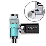 Термометр проточный цифровой для душа 0-100C LED-дисплей, фото 3