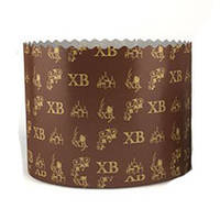 Форма для пасхи бумажная, форма для выпечки кулича 70х85 мм, 150 грамм (Италия), набор 50 шт