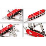 1.3653.72 Ніж Victorinox Swiss Army Angler червоний, фото 4