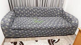 Цветной чехол натяжной на трехместный диван без рюш Venera сиреневый